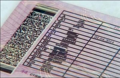 На обратной стороне водительского удостоверения нанесен штрих-код для учета данных и сведения о категории водителя