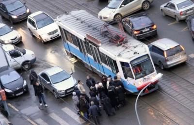 ПДД выезд на трамвайные пути