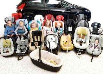 Законодательно разрешено использовать 5 разных типов детских кресел для автомобиля