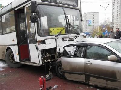 автобус попал в дтп